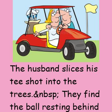 A Married Couple Are Out Golfing