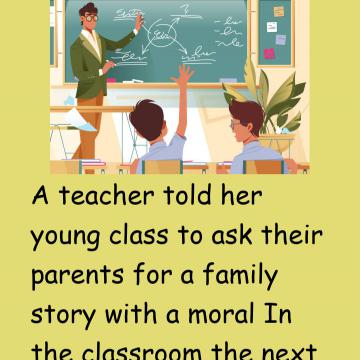 A Teacher Told Her Young Class To Ask Their Parents..