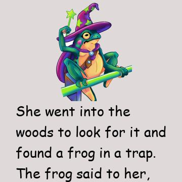 A Woman Is Out Golfing And Finds A Frog Trapped In The Woods