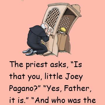 An Altar Boy Goes To Confessional