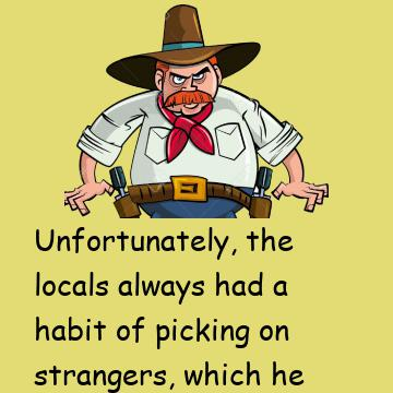 Cowboy Joke: He Doesn't Want To Do What He Did In Texas