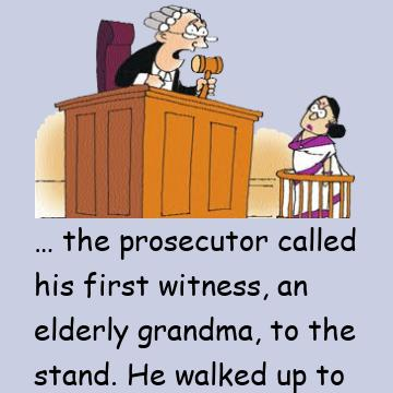 Lawyer Asks Old Lady If She Knows Who He Is