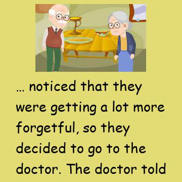 The Funny Old Forgetful Couple Go To A Doctor