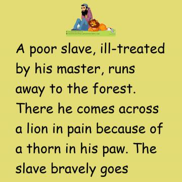 The Lion And The Poor Slave