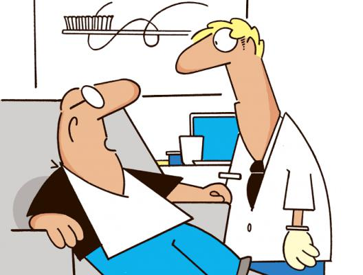 The Man Tells The Dentist To Hurry