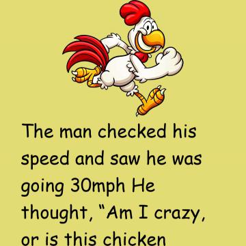 The Man Was Amazed To See A Three Legged Chicken Running 50Mph