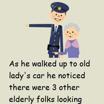 The Police Officer Laughed When The Old Lady Said This!