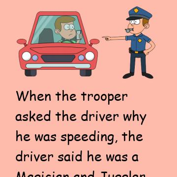 The Trooper Has A Strange Sobriety Test