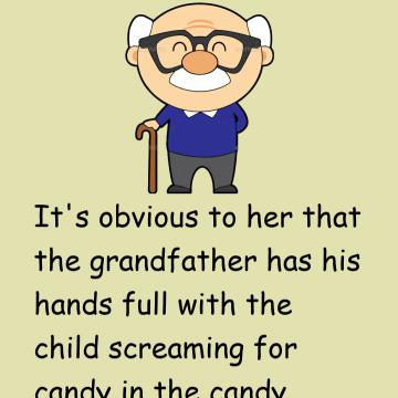 The Woman Is Amazed At Gramps' Tolerance Of The Boy